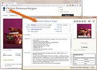 Screenshot: Automatically import recipe from the web.